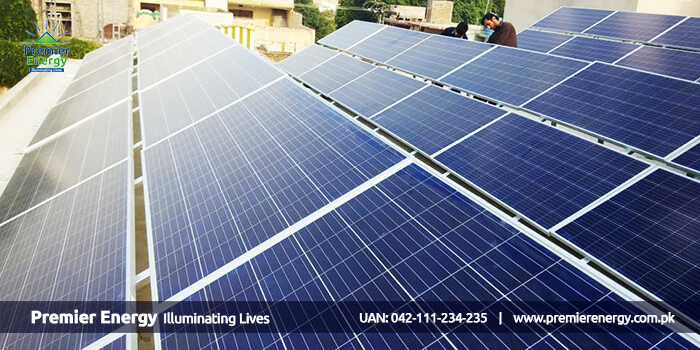 32 KW Grid Tied Solar Power Plant Installed at Childern Hospital